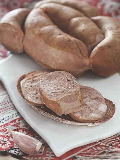 Печеночная колбаса в пакете