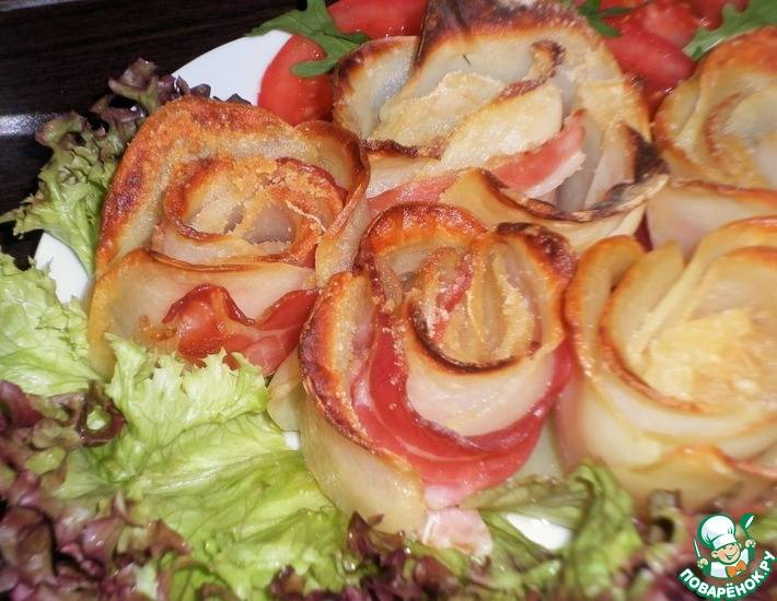 Розочки из картофеля