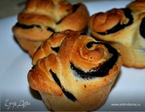 Булочки «розочки» с сахаром и корицей - пошаговый рецепт с фото