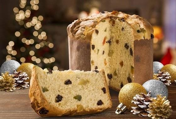 Рождественский итальянский пирог panettone