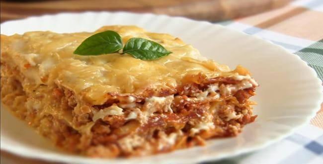 Лазанья с фаршем в духовке - пошаговый рецепт с фото