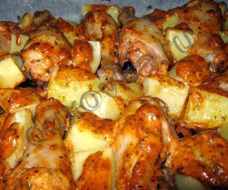 Куриные ножки с картошкой в мультиварке рецепты