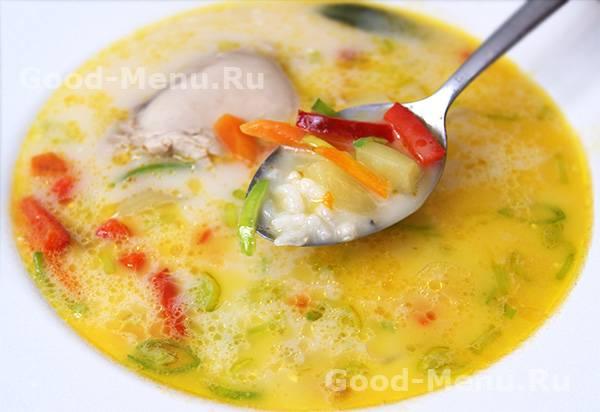 Кабачковый суп-пюре с плавленым сыром