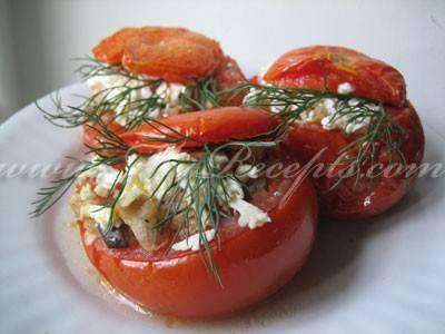 Фаршированные помидоры фаршем в духовке