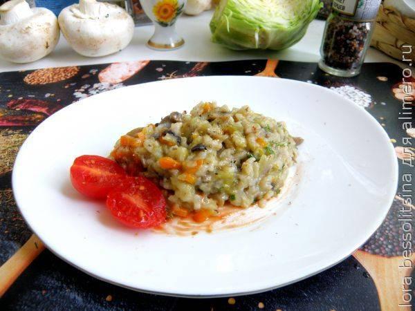 Простой рецепт ленивых голубцов с грибами в мультиварке - сочно, наваристо, вкусно