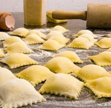 """Равиоли с творожно-сырной начиночкой на пару """"итальяно"""""""