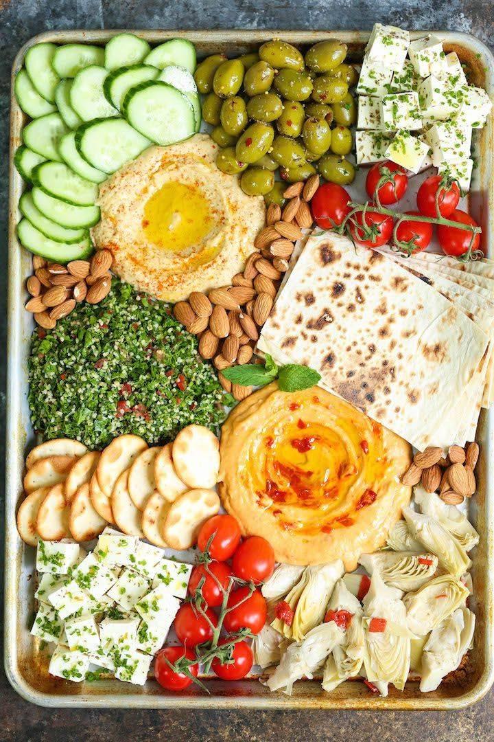Летняя овощная тарелка за 15 минут