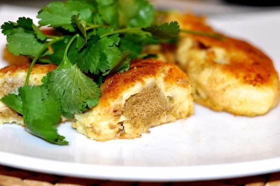 Картофельные котлеты с печeнкой