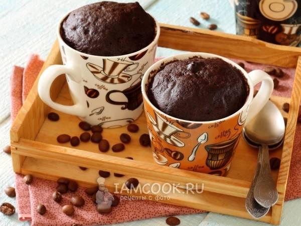 Пошаговый рецепт шоколадного кекса в микроволновке за 5 минут
