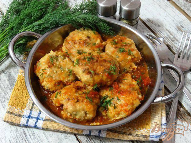 Рецепт рыбные фрикадельки, тушеные в томатном соусе