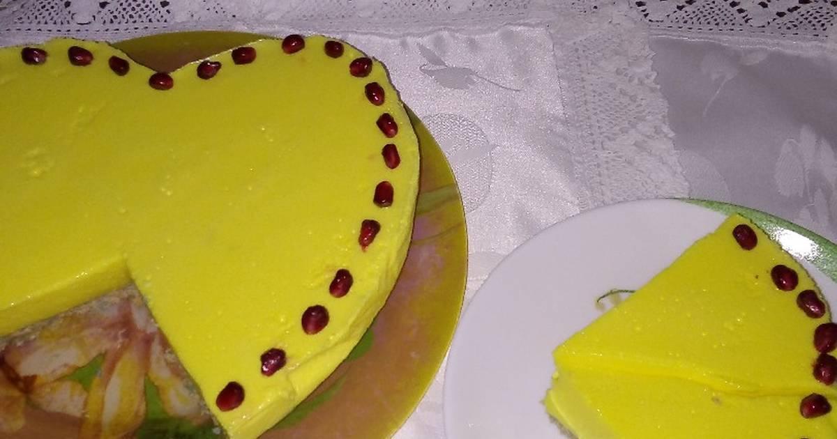 Чизкейк сырный с гранатовым соусом