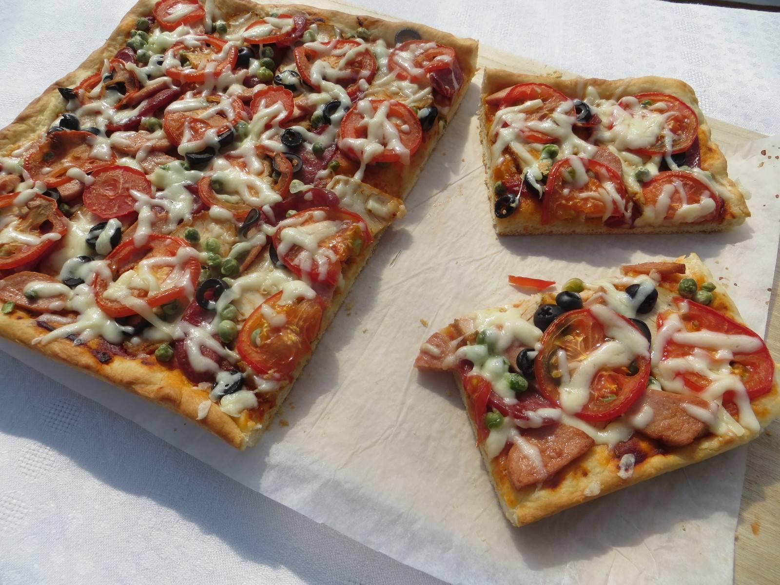 Тонкое тесто на пиццу