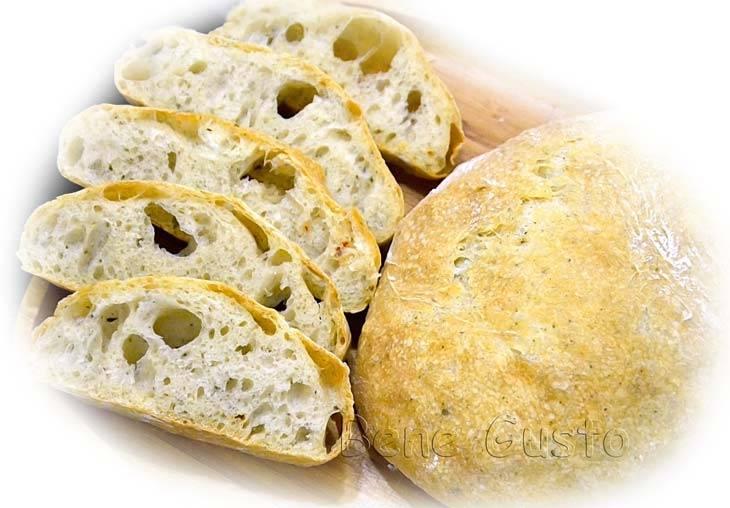 Чиабатта. домашний вкусный хлеб