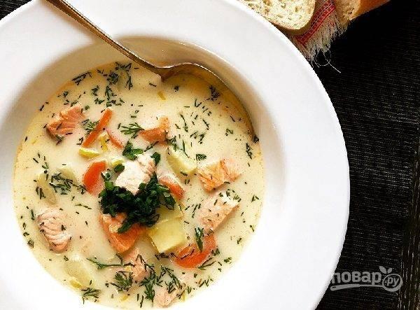 А вы умеете готовить сливочный суп с семгой?