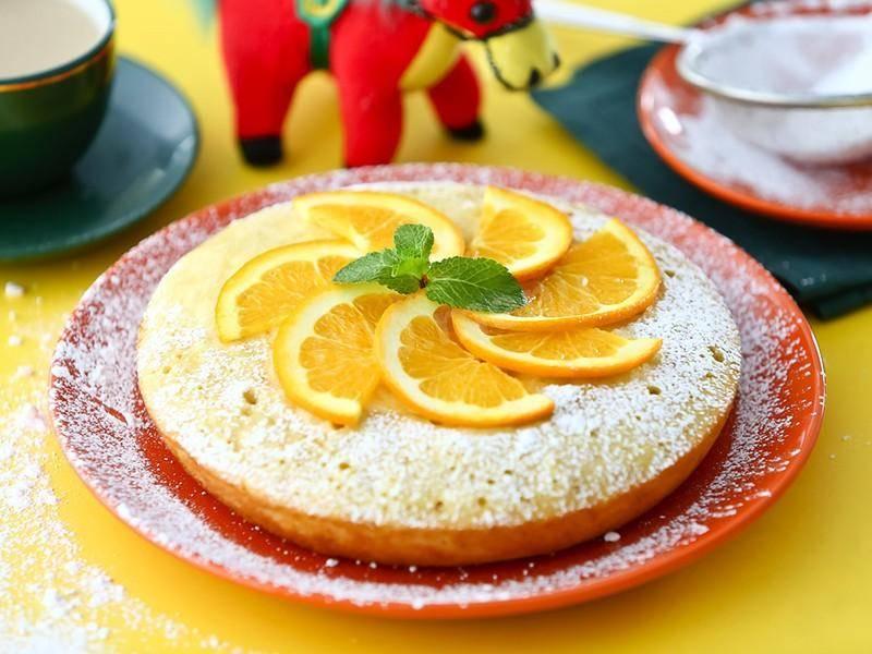 Творожный пирог с апельсиновым соусом - 11 пошаговых фото в рецепте