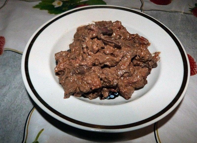 Подлива из говяжьей печени рецепт с фото