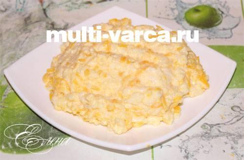 Тыквенная каша с рисом в мультиварке — рецепт для мультиварки