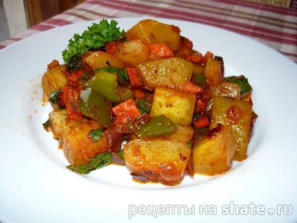 Овощи на сковороде-гриль - аппетитные, очень вкусные и полезные блюда