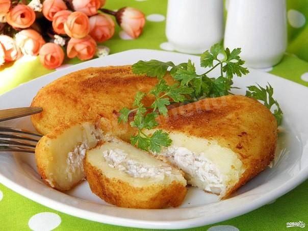 Зразы мясные с картофельной начинкой