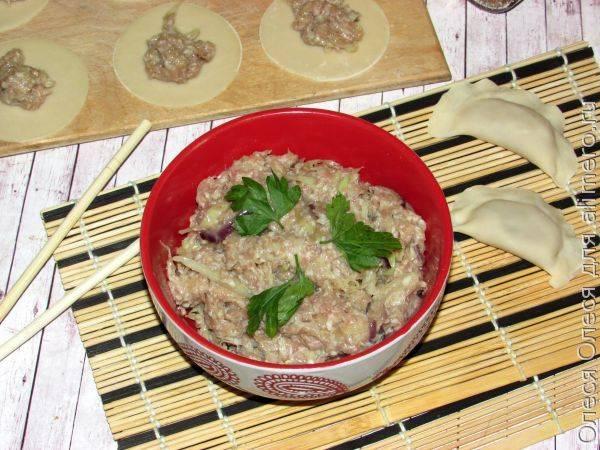 Фарш для пельменей с капустой. Рецепты китайской кухни