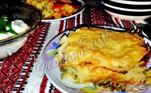 Постные жареные пирожки с капустой и картошкой