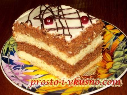 Сметанный торт со сметанным кремом