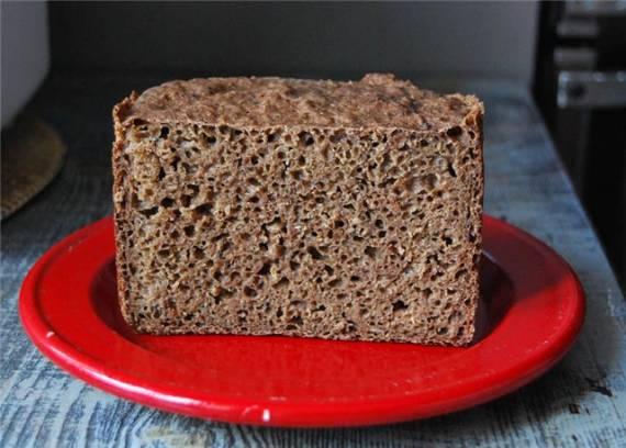 Постный пшеничный хлеб с отрубями