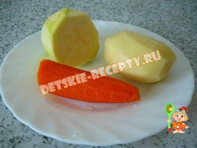 Суп-пюре из кабачков и картофеля для ребенка (до 1 года)