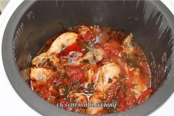 Классический рецепт чахохбили из курицы в мультиварке