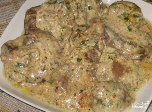 Рецепт куриной печени, тушеной в сметане - 8 пошаговых фото в рецепте