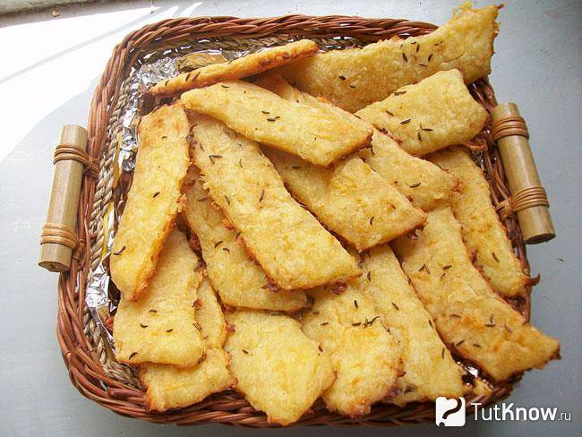 Сырные палочки: рецепт приготовления