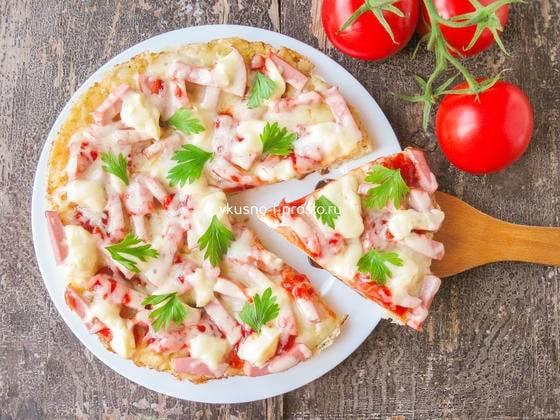 Деревенская пицца с картошкой — пошаговый кулинарный рецепт приготовления пиццы с фото