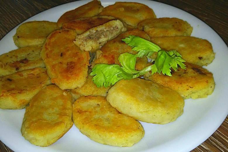 Оладушки из печени и картофеля
