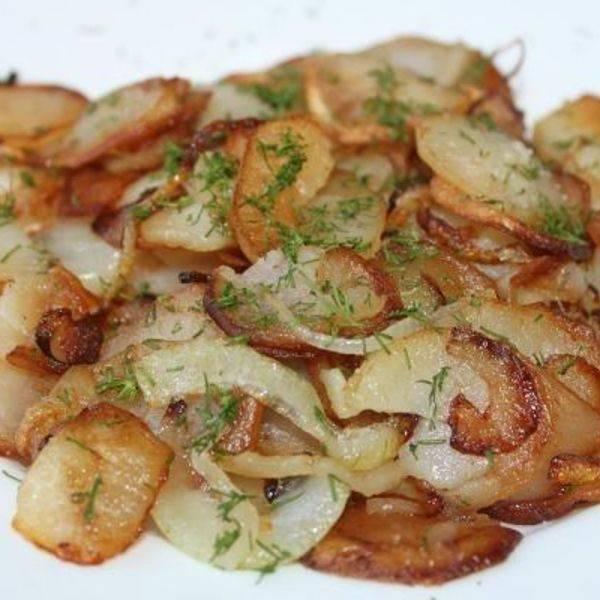 Жареный картофель с секретом