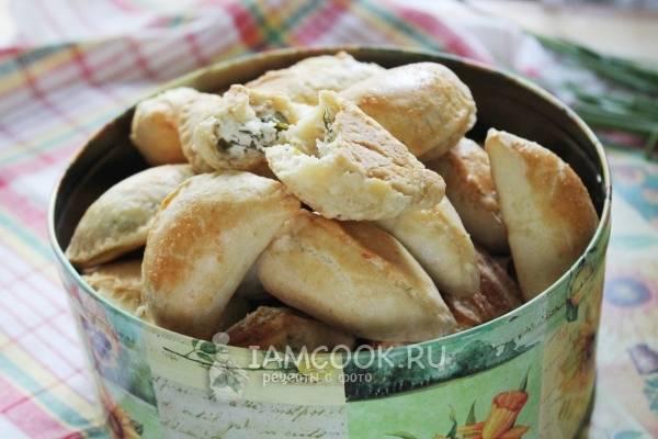 Пирожки с творогом и зеленью рецепт с фото