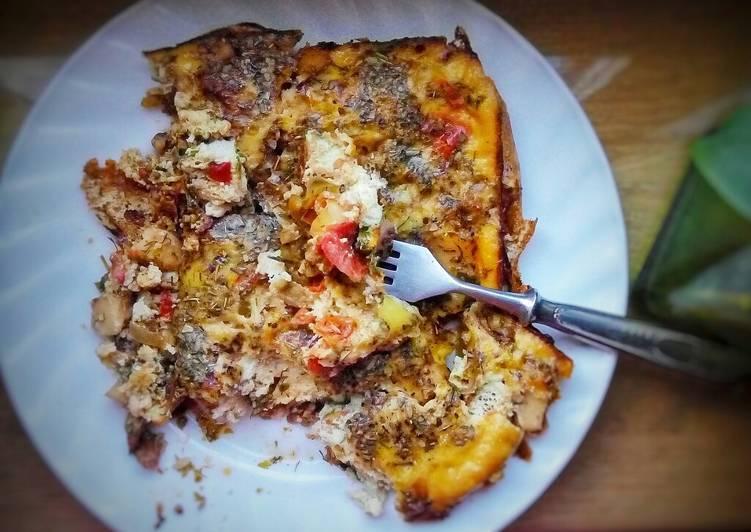 Пицца с морепродуктами в духовке