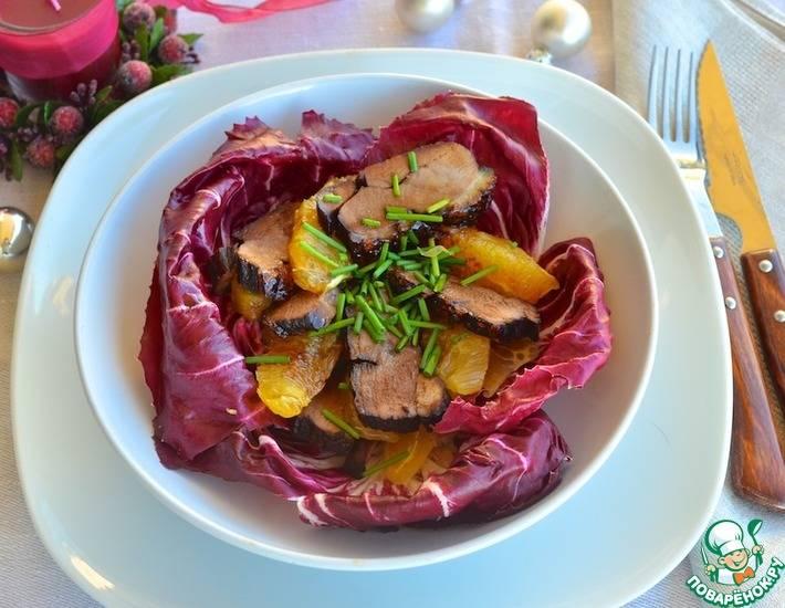 Салат с зеленью и мандаринами: рецепт и фото