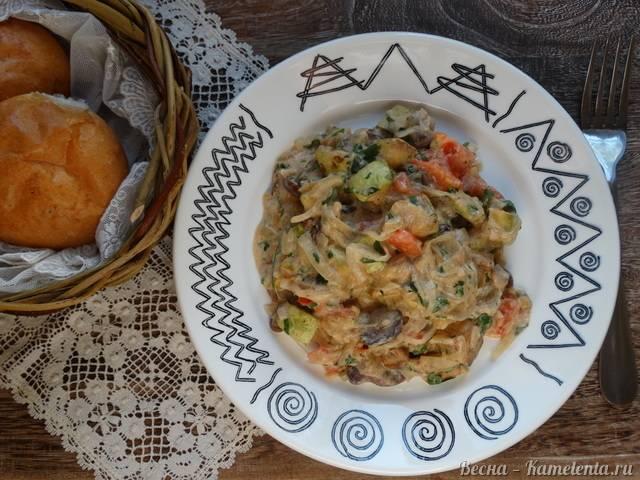 Кабачки с грибами в сметане рецепт с фото