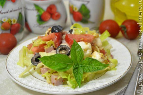 Чудесный овощной микс с балыком и фетой