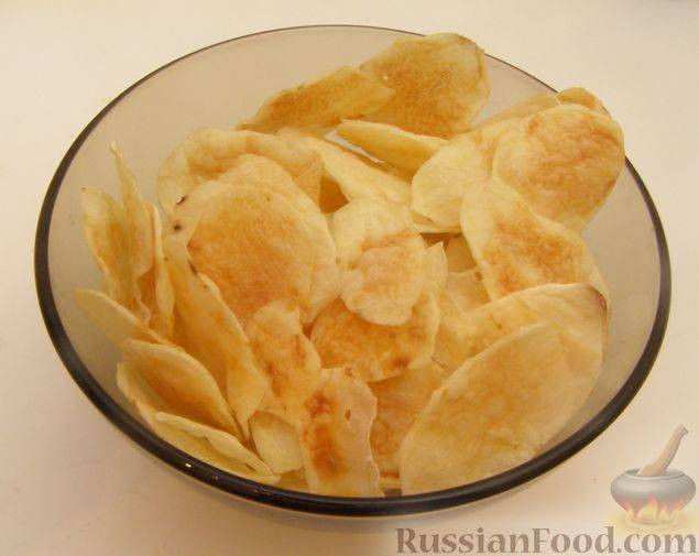Картофельные чипсы в микроволновке за 5 минут в домашних условиях