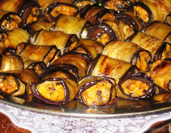 Баклажаны с морковью по-корейски