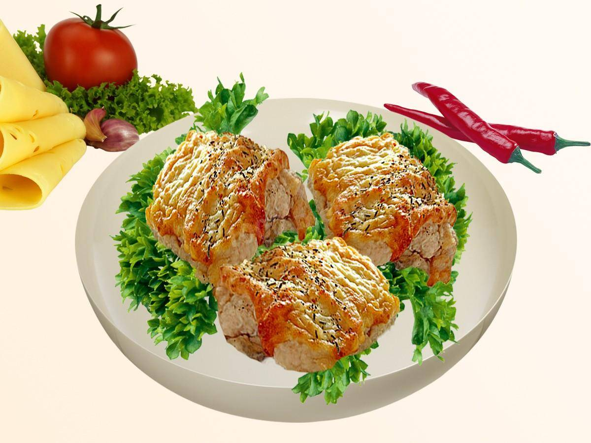 Филе трески с сыром и овощами