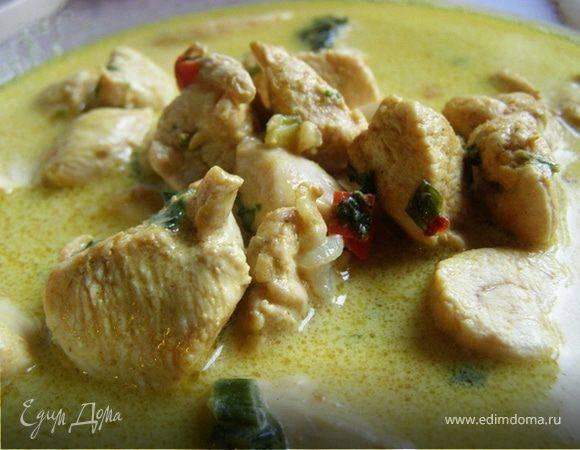 Курица в кокосовом молоке тушеная со специями - рецепты джуренко