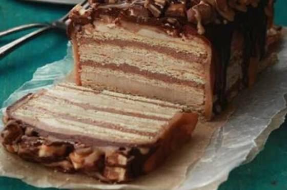 Сливки, масло, много шоколада-торт «шоколадка». вкусный десерт.