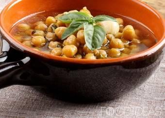 Овощной суп с овсяными хлопьями