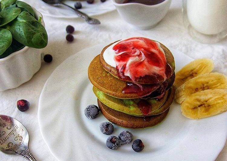 Панкейки на кефире с вишневым соусом: пошаговый рецепт с фото