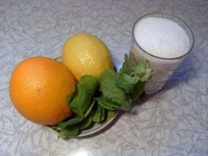 Домашний лимонад из лимона с мятой, апельсинами