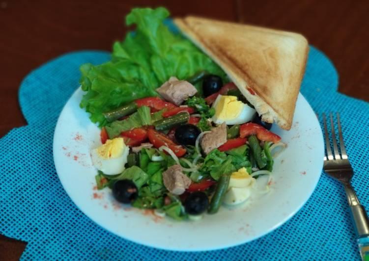 Нисуаз - салат 8 рецептов с фото с тунцом, помидорами черри, яйцом по-французски