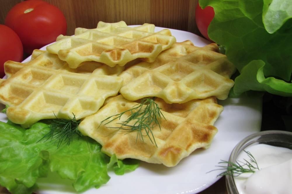 Картофельные вафли в духовке