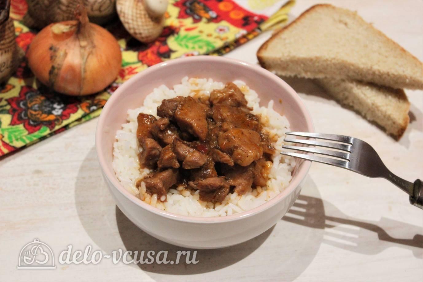 Подливка из свинины: с луком, томатом, сметаной, мукой, бефстроганов